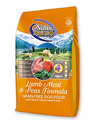 NutriSource Lamb Meal & Peas Grain Free Dog Food Lamb Meal & Salmon Meal Protein 30 lbs