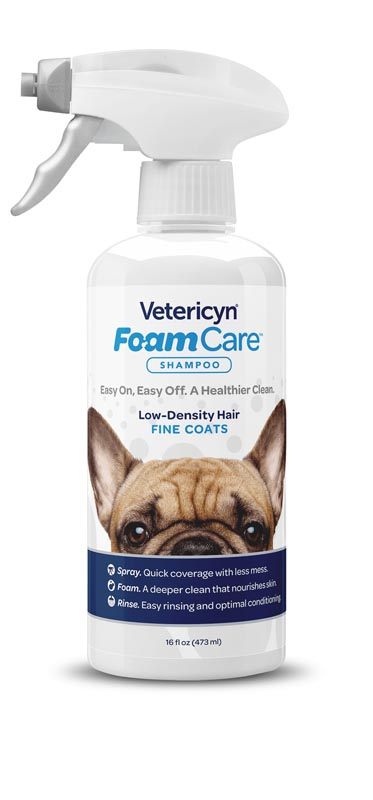 Vetericyn FoamCare Pet Shampoo For Thin Coats, 16 oz