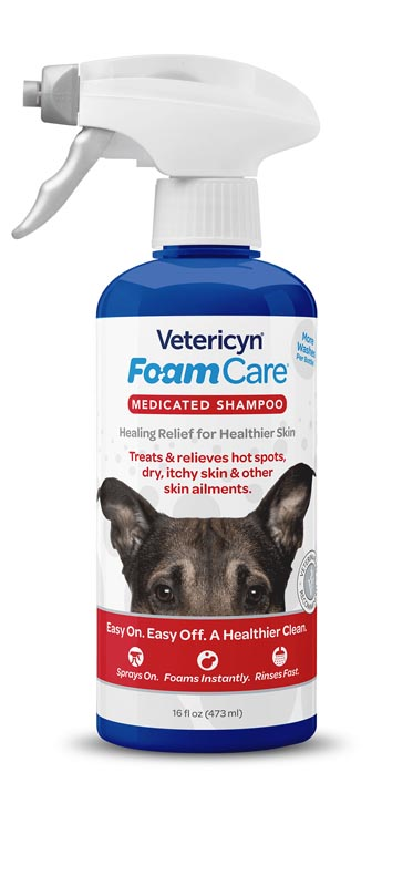 Vetericyn FoamCare Medicated Pet Shampoo, 16 oz