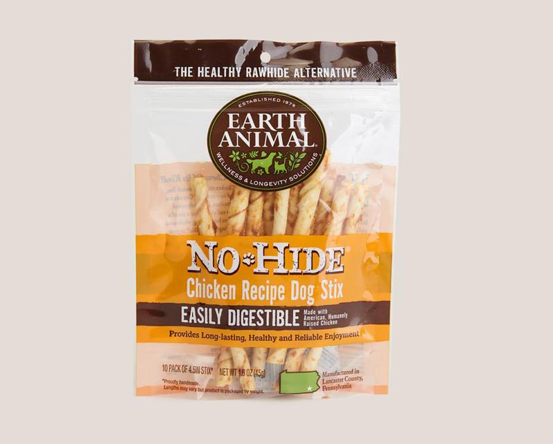 Earth Animal Chicken No-Hide STIX, 10 pack