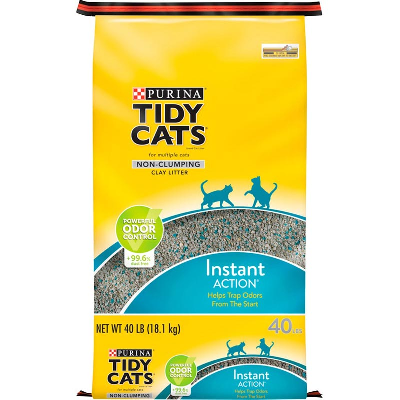 Purina Tidy Cats Non Clumping Cat Litter; Instant Action Low Tracking Cat Litter - 40 lb. Bag