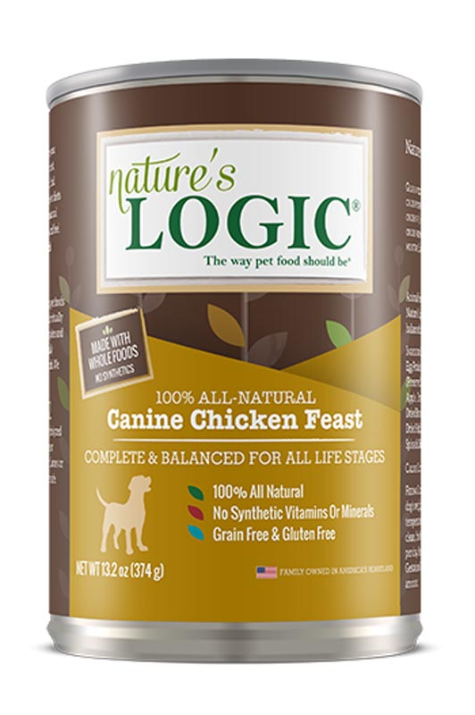 Nature's Logic Canine Chicken Feast Canned Food, 13.2 oz