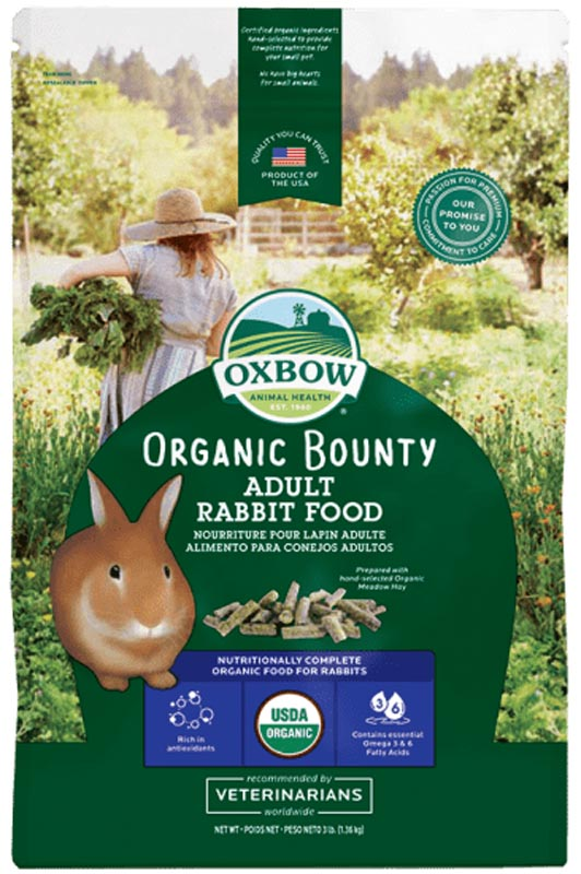 Oxbow Organic Bounty Adult Rabbit Food, 3 lbs