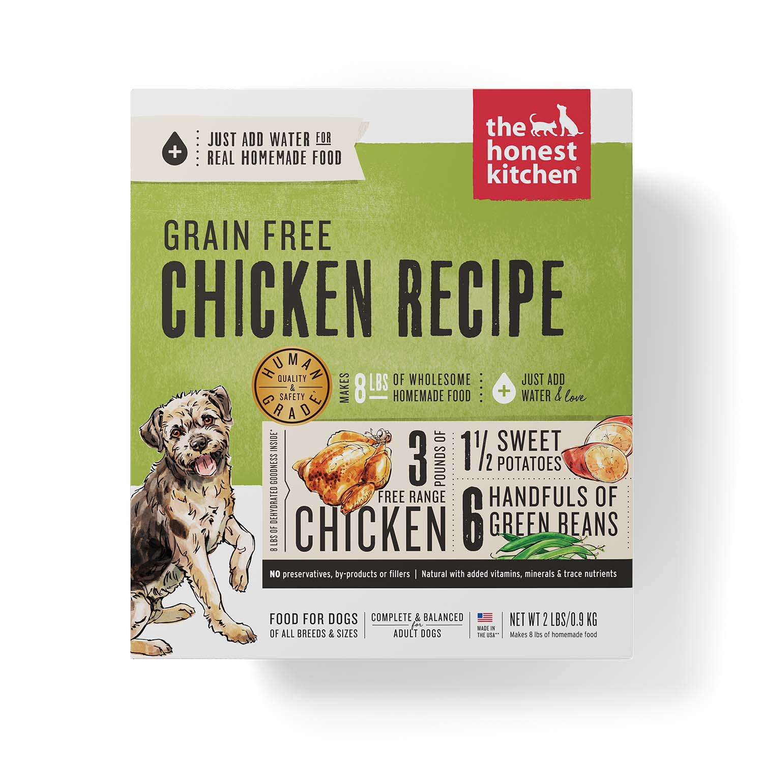 The Honest Kitchen Dehydrated - Grain Free Chicken Recipe (Force), 2 lbs