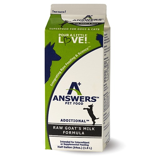 Answers Additional Raw Goat's Milk, 64 oz