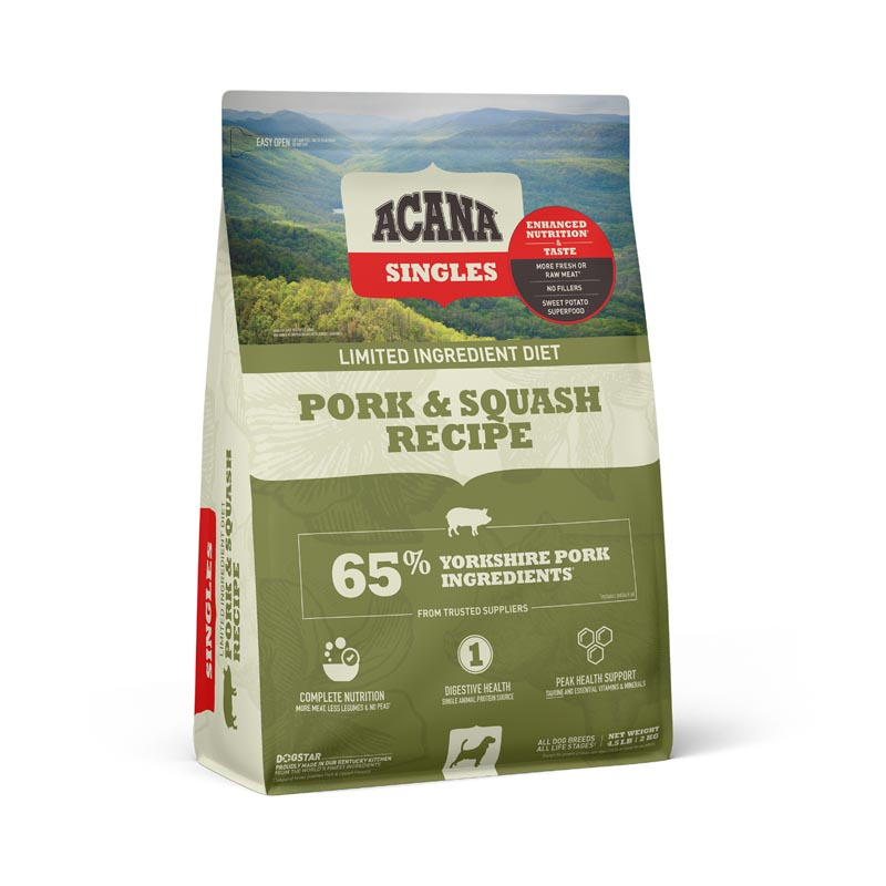 Acana Singles Pork & Squash Dog Food, 12 oz