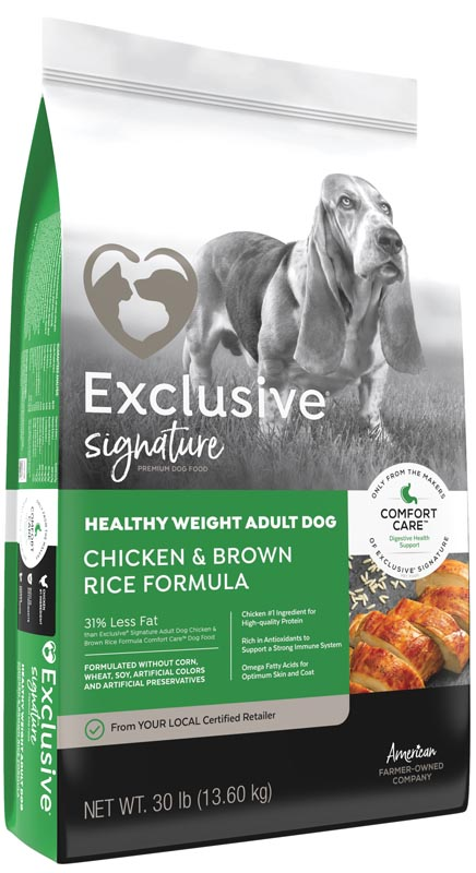 Exclusive Signature Healthy Weight Adult Chicken & Brown Rice Dog Food, 15