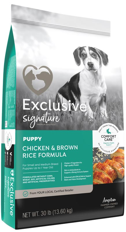 Exclusive Signature Chicken & Brown Rice Puppy Food, 15 lbs