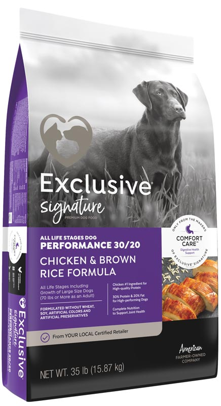 Exclusive Signature All Life Stages Chicken & Brown Rice Performance Dog