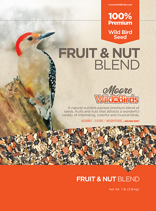 Moore Wild Birds Fruit & Nut Blend, 7 lbs