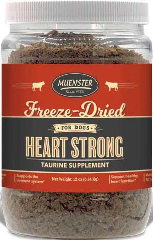 Muenster Freeze-Dried Heart Strong Beef Topper Supplement, 10 oz