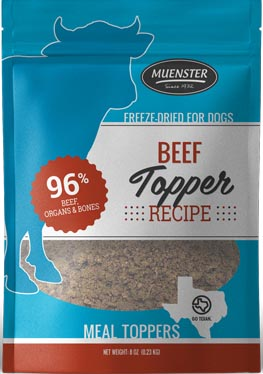 Muenster Freeze-Dried Beef Meal Toppers, 8 oz