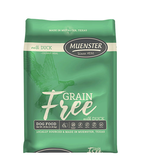 Muenster Grain Free with Duck Dog Food, 25 lbs