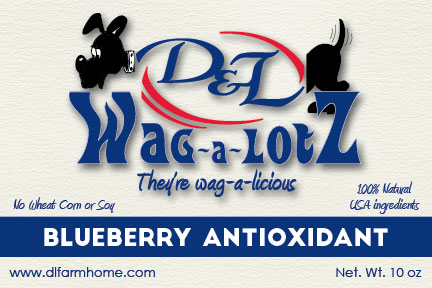 D&L Wag-a-LotZ Blueberry Antioxidant Dog Treats 10.5 oz