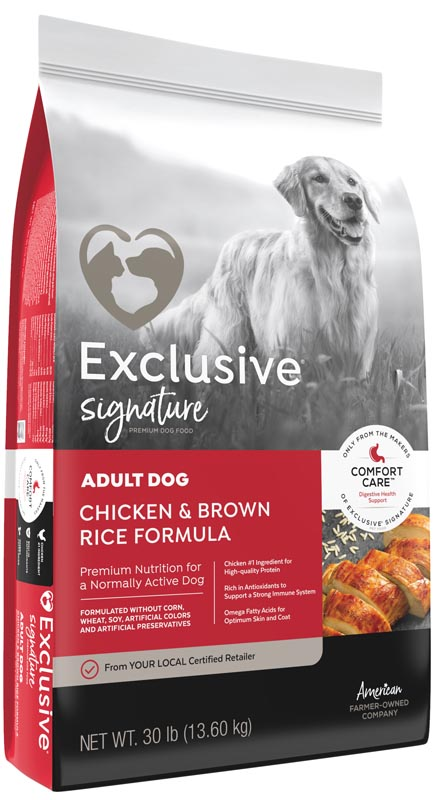 Exclusive Signature Adult Chicken & Brown Rice Dog Food, 15 lbs