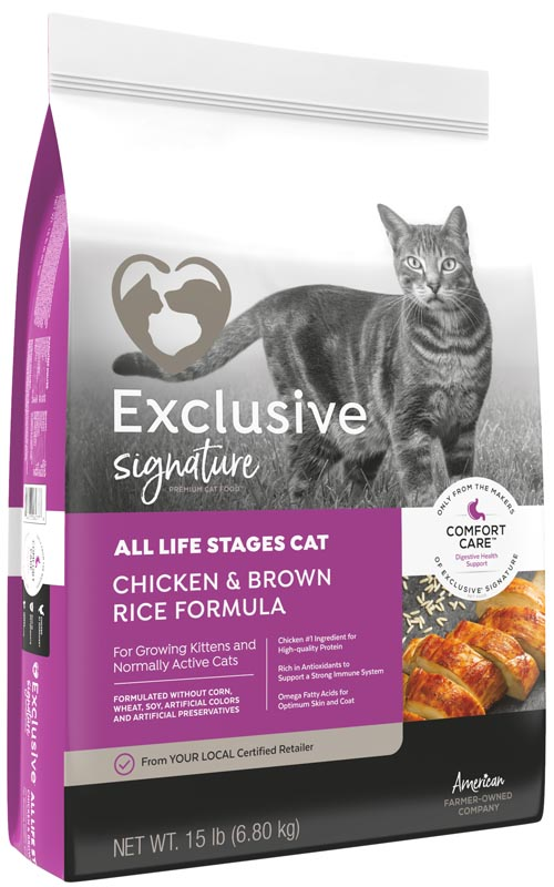 Exclusive Signature All Life Stages Chicken & Brown Rice Cat Food, 15 lbs