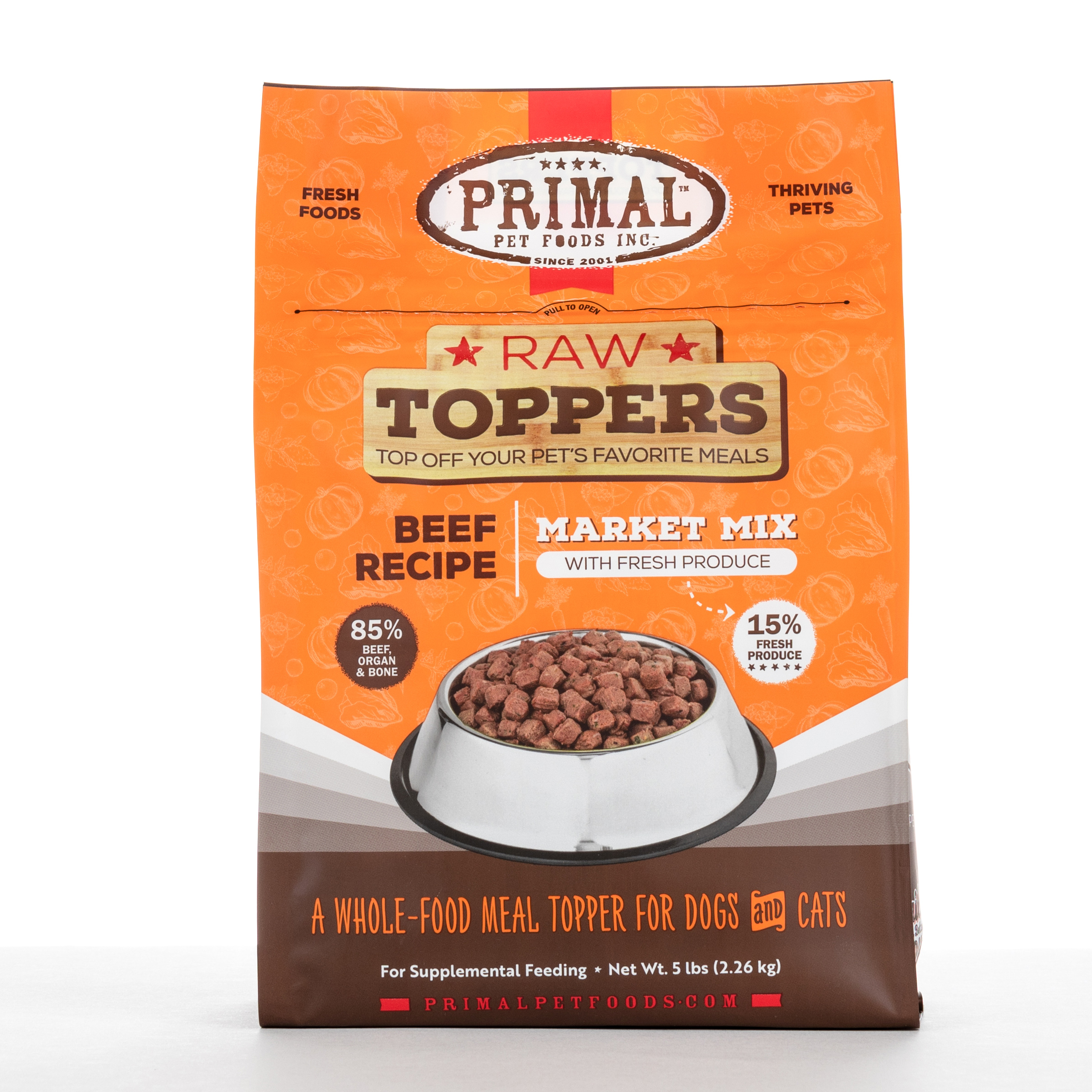 Primal Market Mix Topper - Beef, 5 lbs