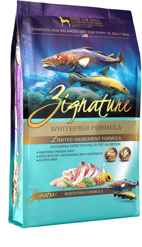 Zignature Whitefish Dog Food, 13.5 lbs