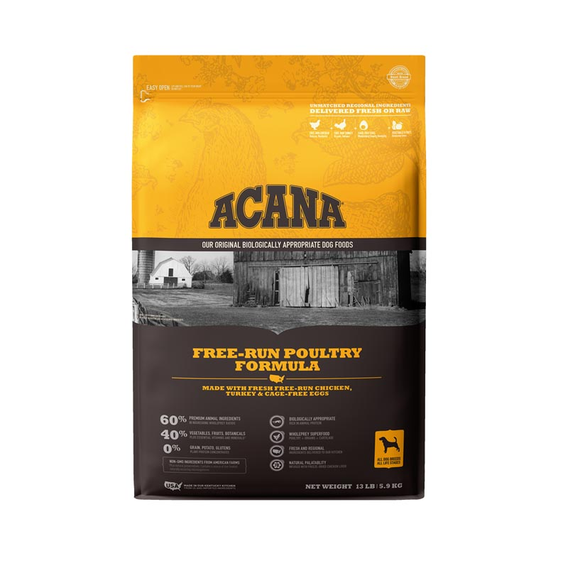 Acana Free-Run Poultry Dog Food, 13 lbs