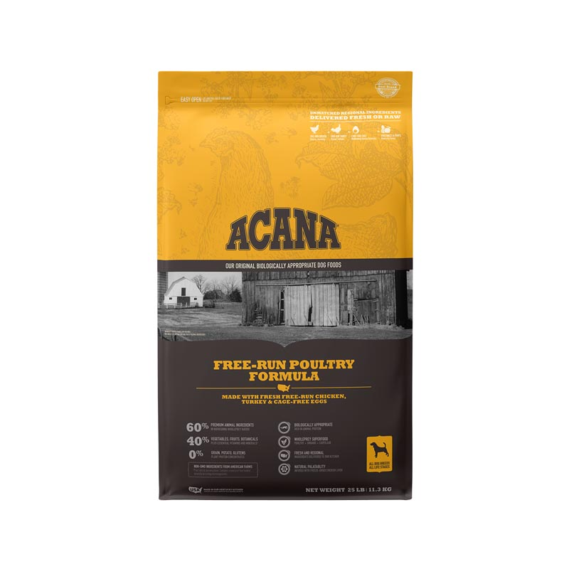 Acana Free-Run Poultry Dog Food, 25 lbs