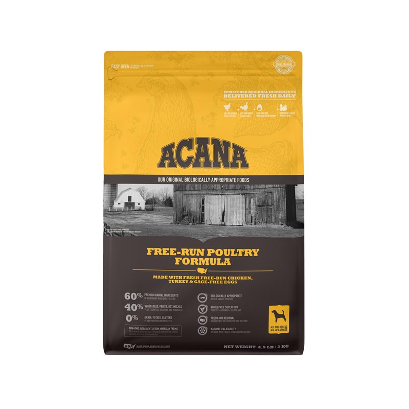 Acana Free-Run Poultry Dog Food, 4.5 lbs