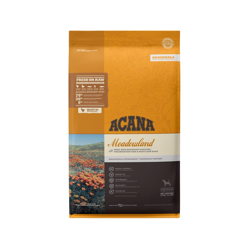 Acana Meadowland Formula Dog Food, 25 lbs