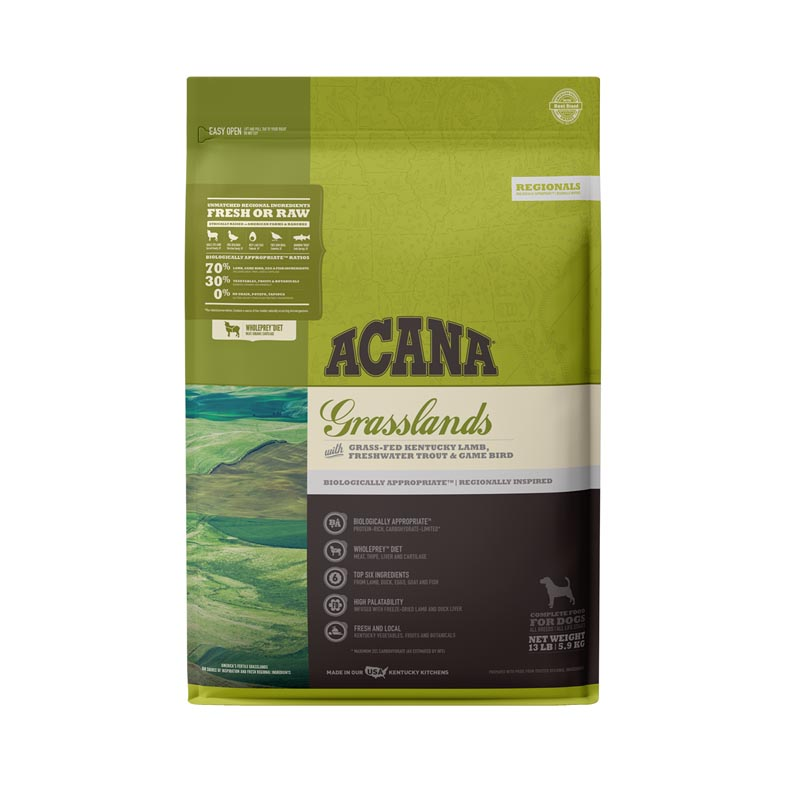 Acana Grasslands Formula Dog Food, 13 lbs
