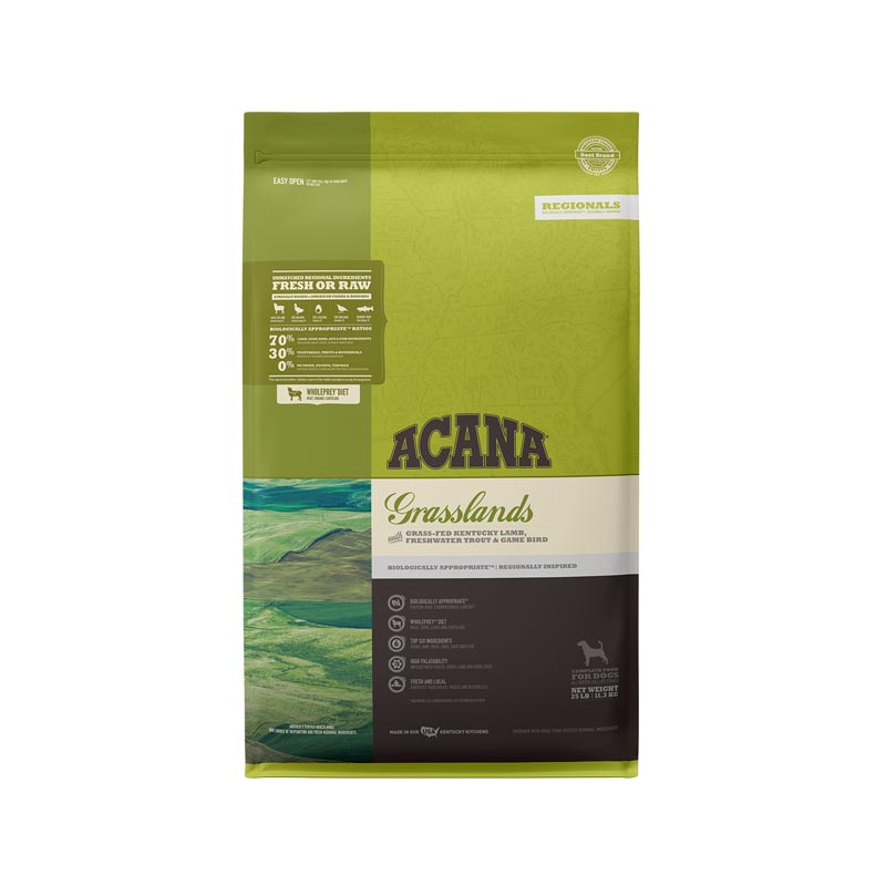 Acana Grasslands Formula Dog Food, 25 lbs