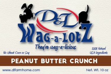 D&L Wag-a-LotZ Peanut Butter Crunch Dog Treats 10.5 oz