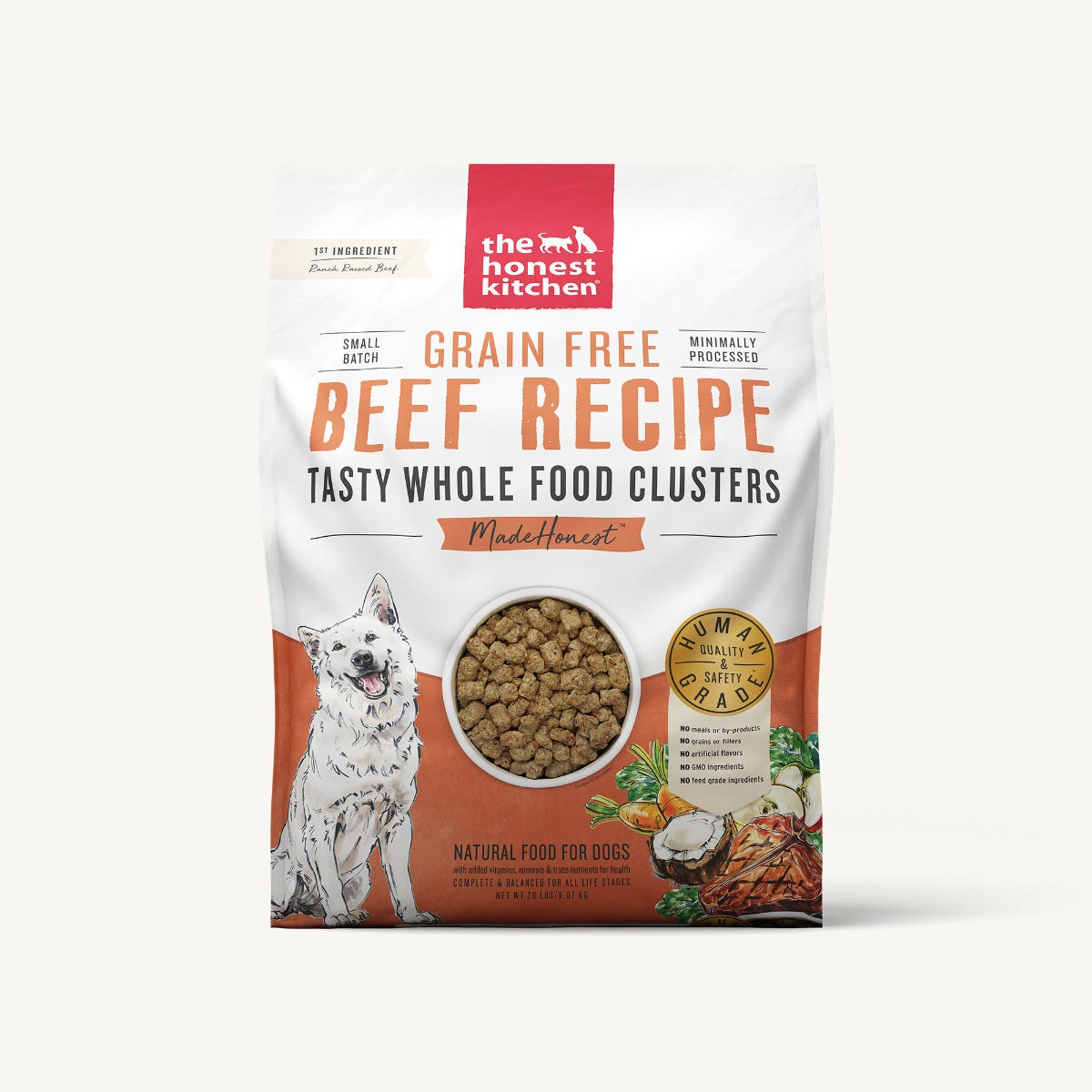 The Honest Kitchen Whole Food Clusters - Grain Free Beef, 20 lbs