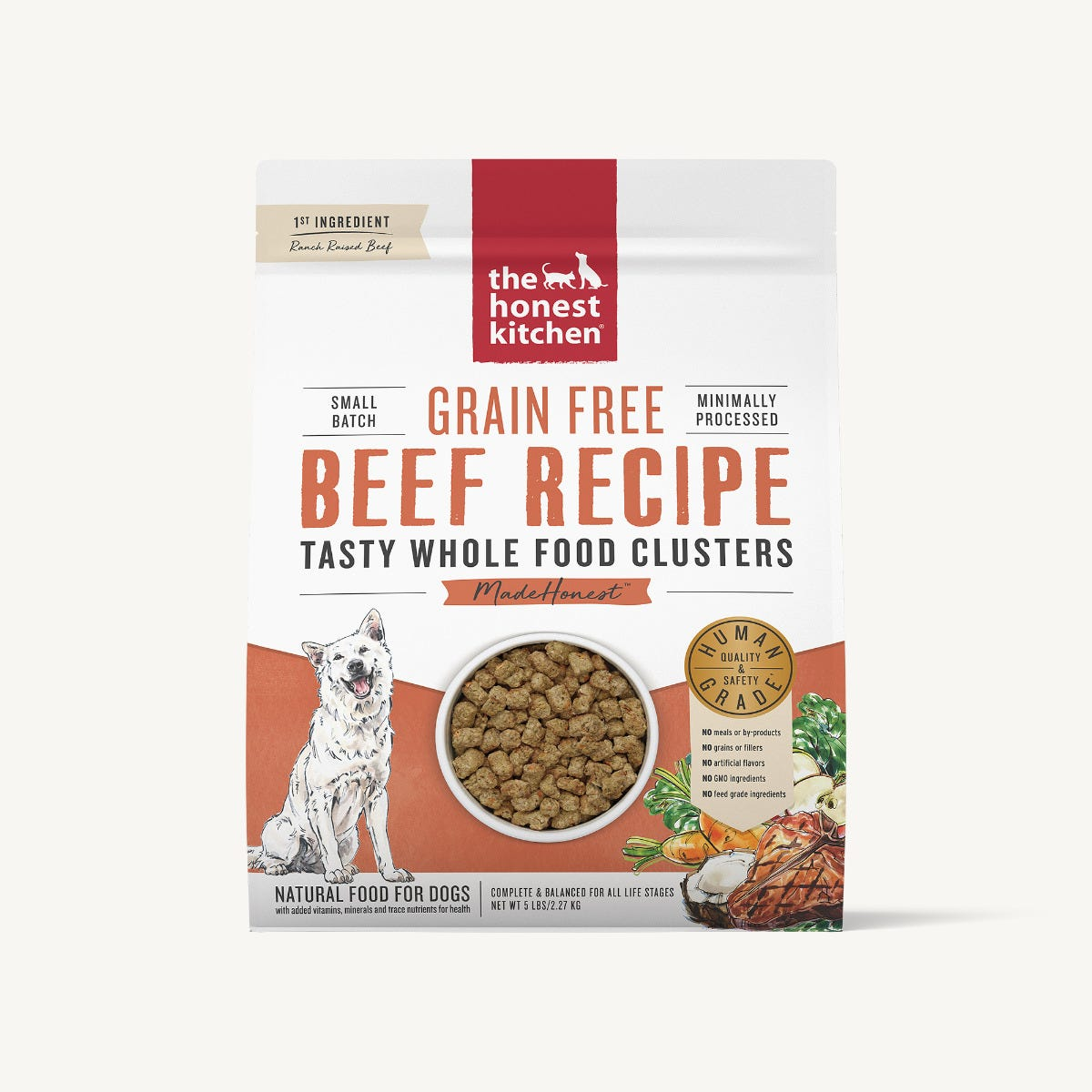 The Honest Kitchen Whole Food Clusters - Grain Free Beef, 5 lbs