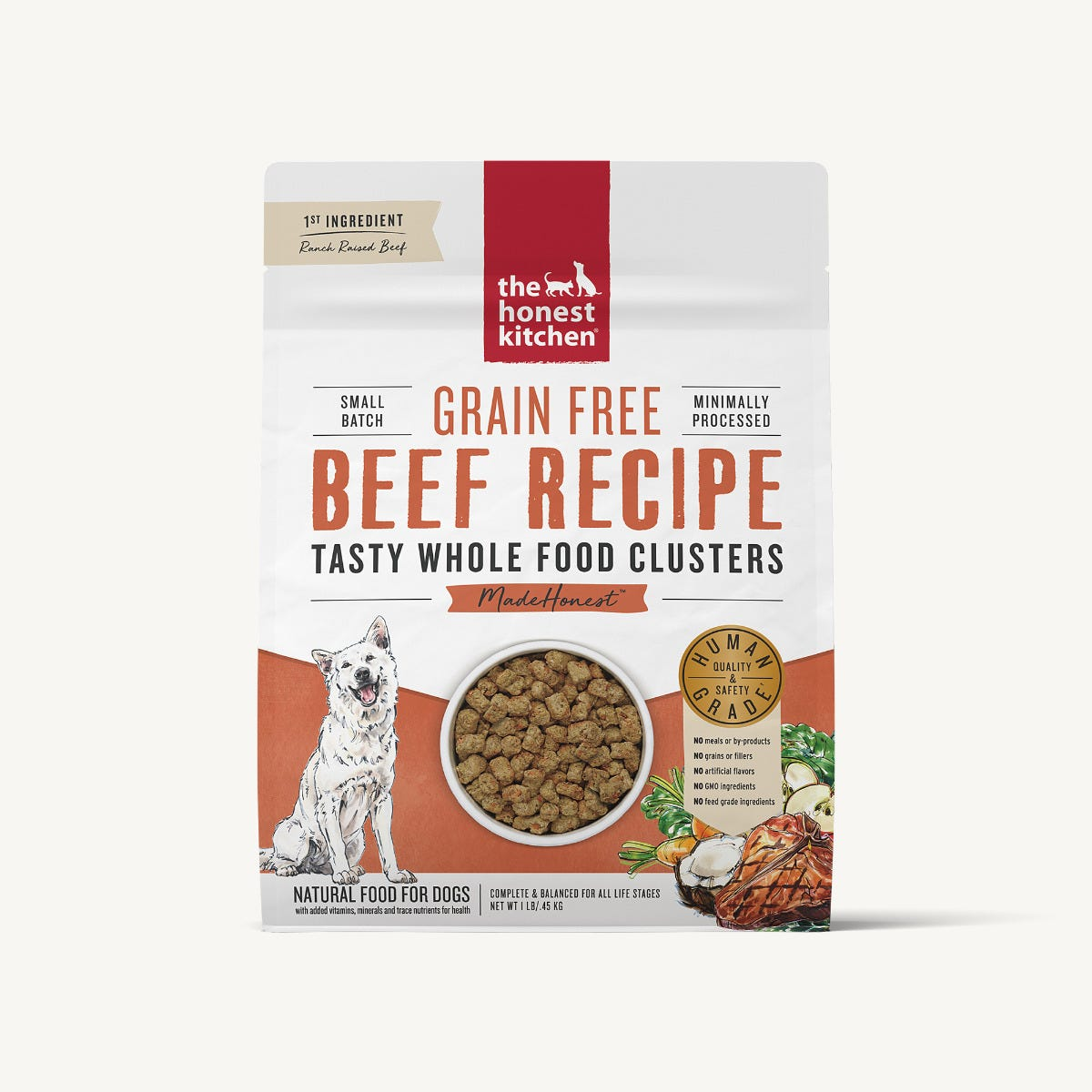 The Honest Kitchen Whole Food Clusters - Grain Free Beef, 1 lb