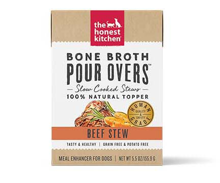 The Honest Kitchen Bone Broth Pour Over - Beef, 5.5 oz