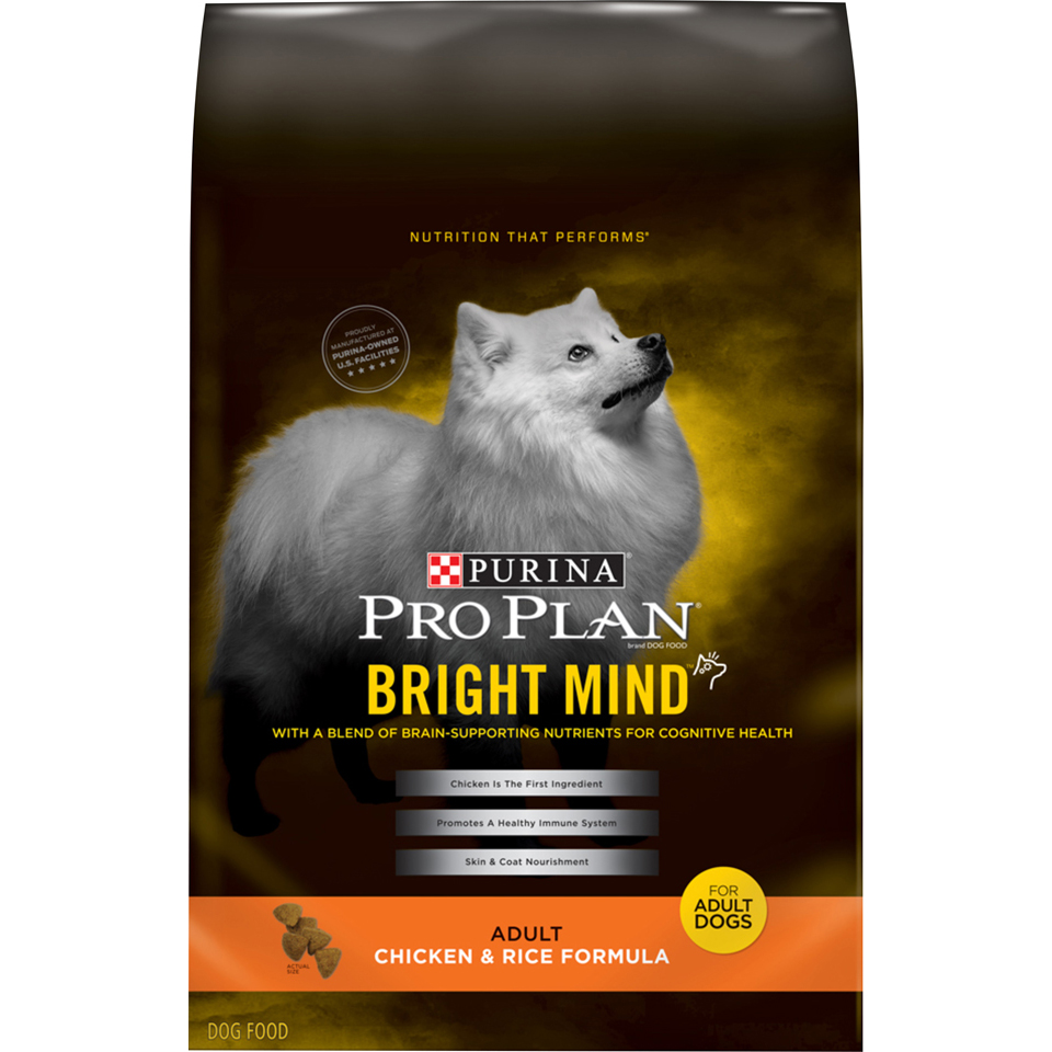 Purina Pro Plan Senior Dry Dog Food; BRIGHT MIND Chicken & Rice Formula - 5 lb. Bag