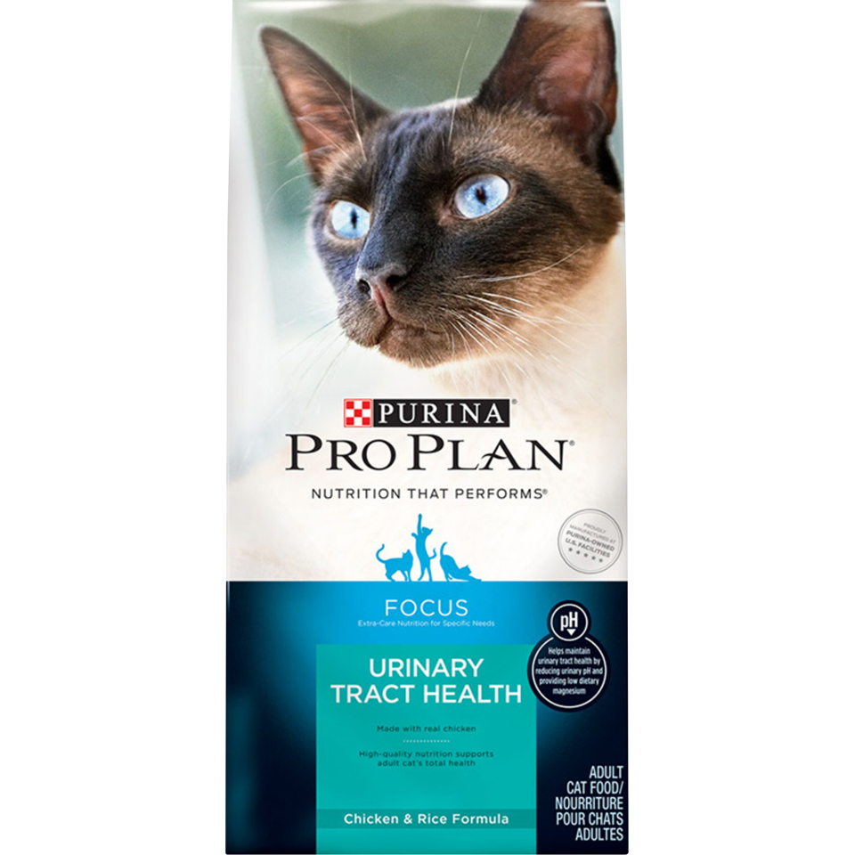 Purina Pro Plan FOCUS Urinary Tract Health Chicken & Rice Formula Adult Dry Cat Food - 16 lb. Bag