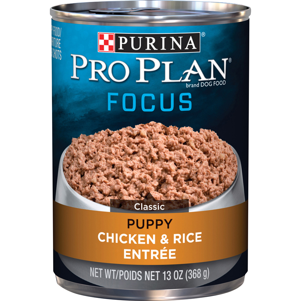 Purina Pro Plan Pate Wet Puppy Food; FOCUS Classic Chicken & Rice Entree - 13 oz. Can
