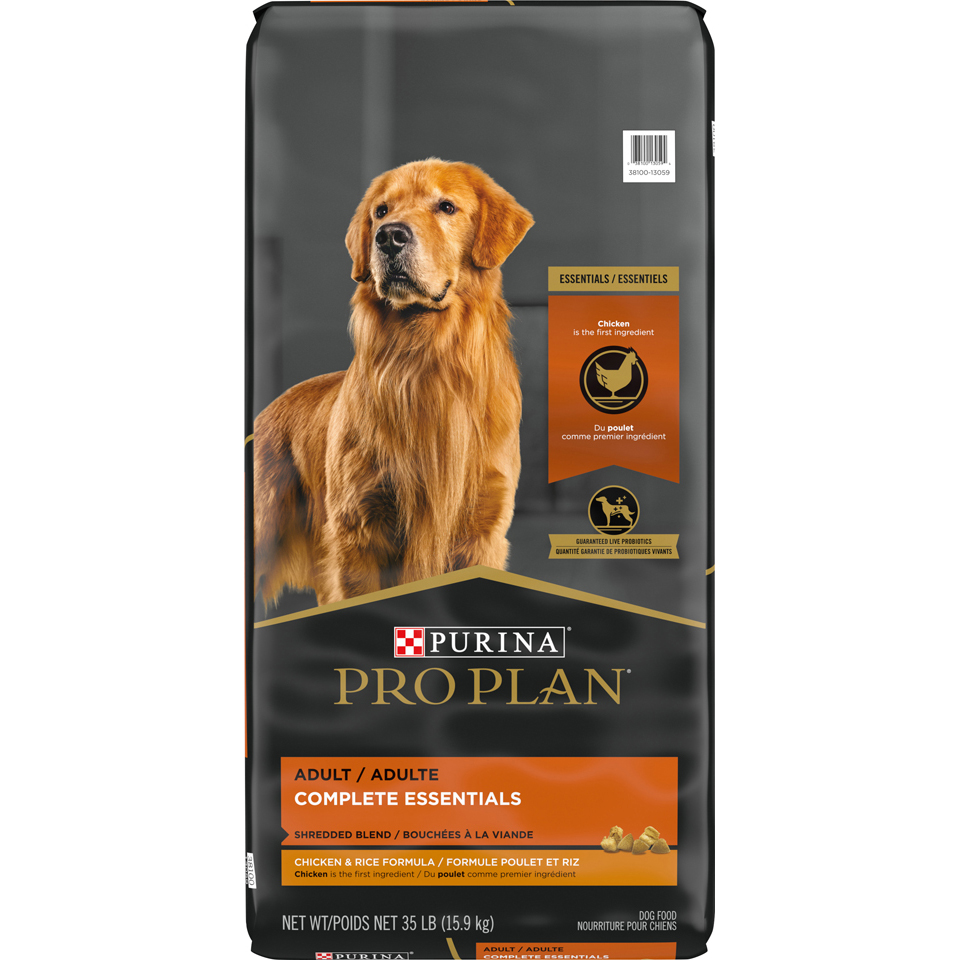 Purina Pro Plan With Probiotics Dog Food, SAVOR Shredded Blend Chicken & Rice Formula - 35 lbs