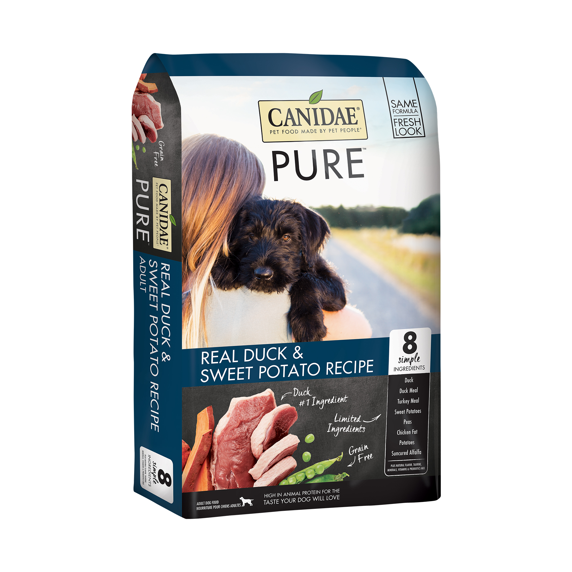 Canidae PURE Grain Free Dry Dog Food with Duck, 24 lbs