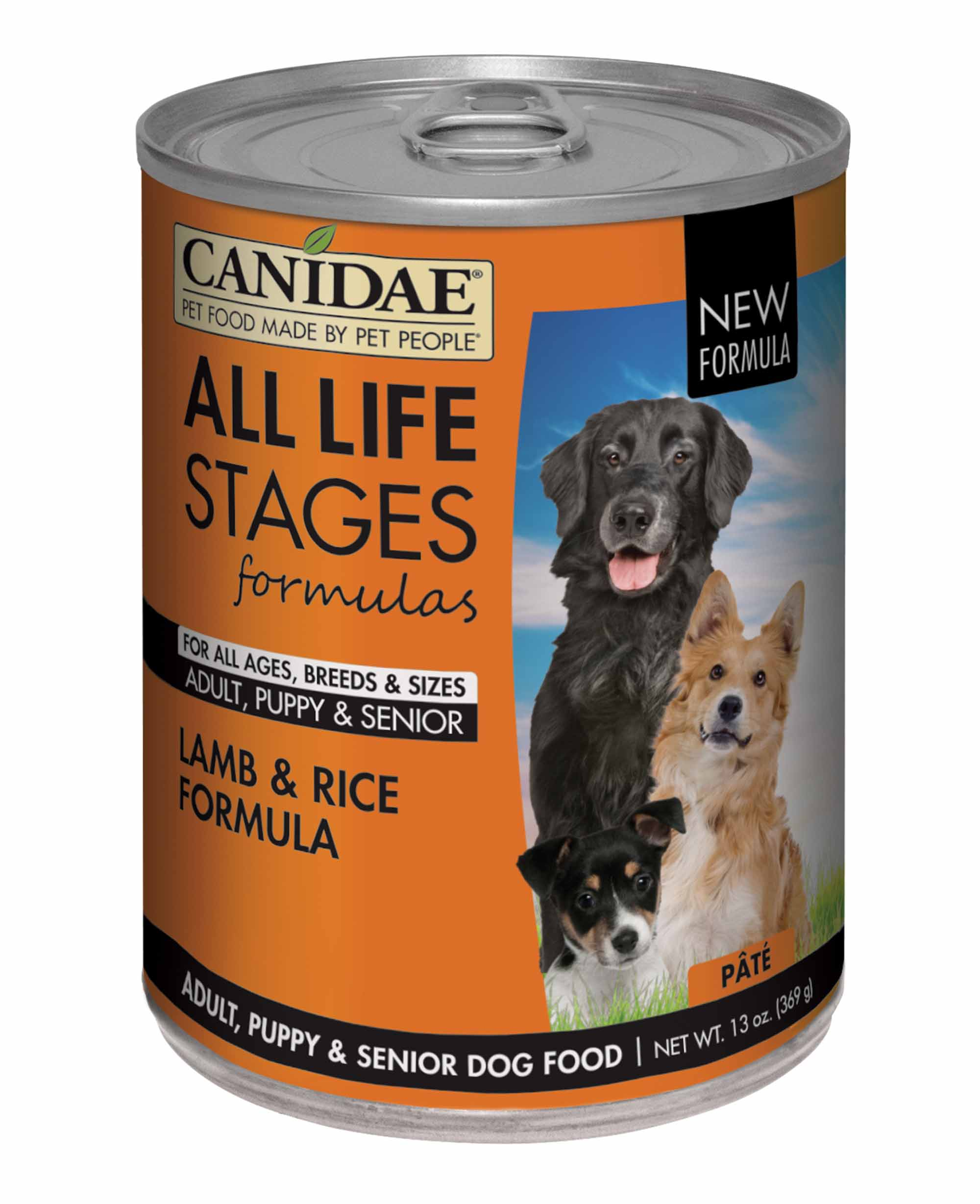 CANIDAE All Life Stages Dog Wet Food Lamb & Rice Formula, 13 oz