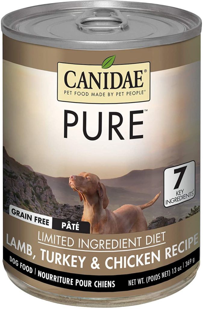 Canidae PURE Grain Free Wet Dog Food with Lamb, Turkey, Chicken, 13 oz