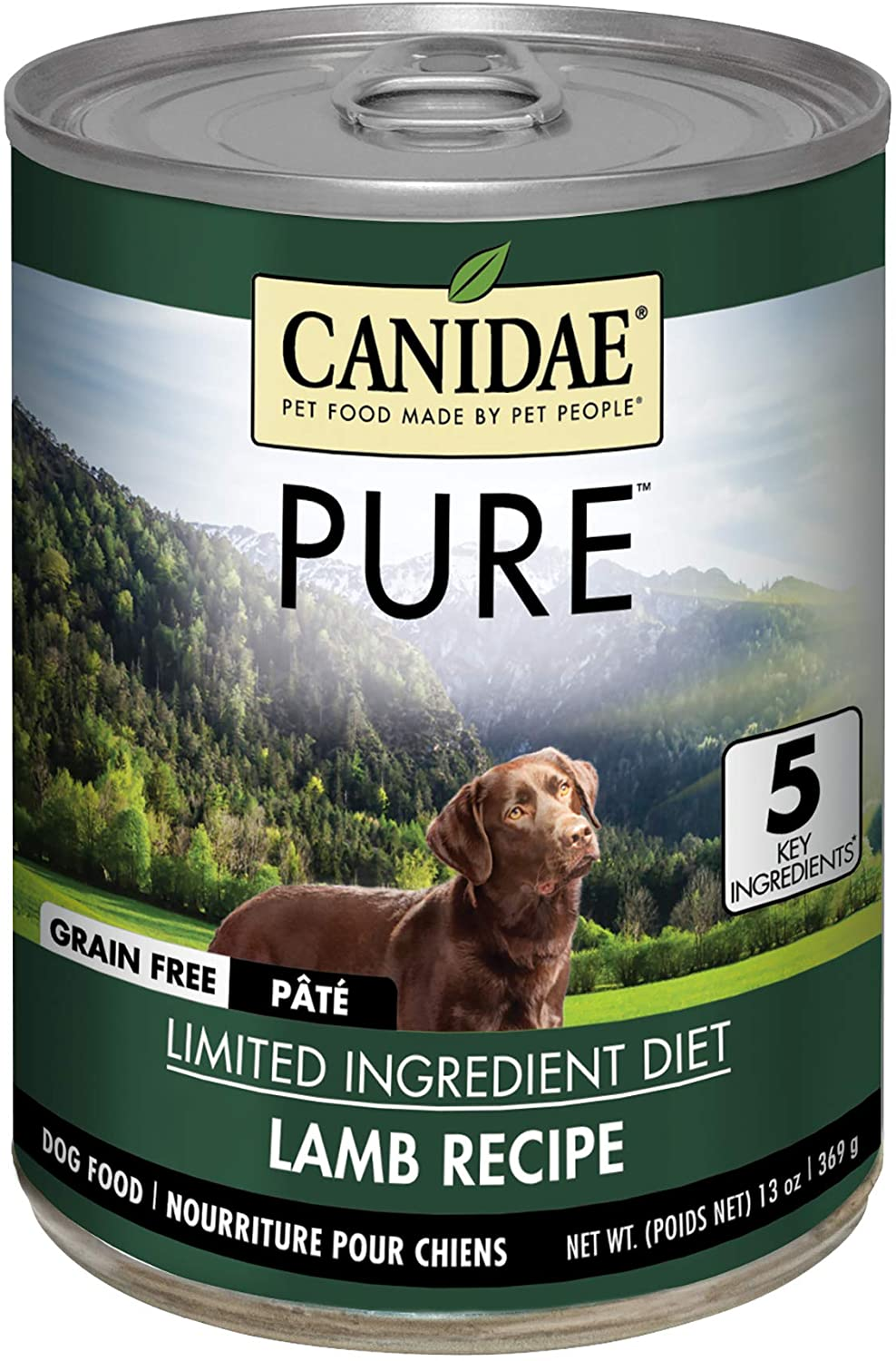 Canidae Grain Free PURE Canned Formula Dog Food With Lamb, 13 oz