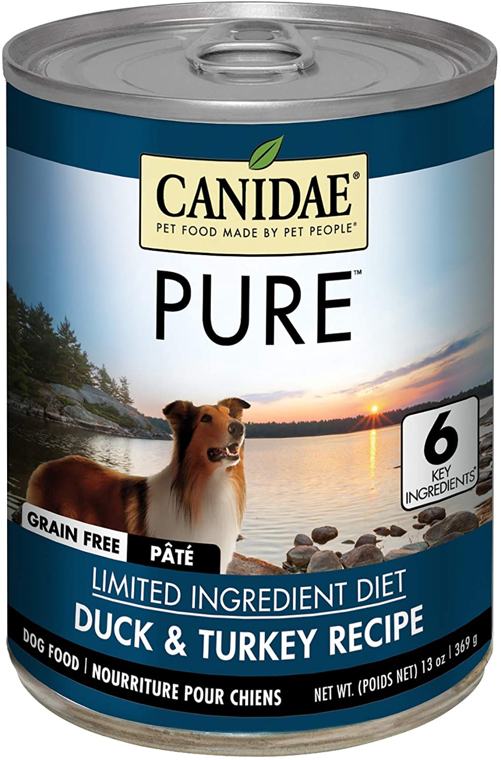 Canide Grain Free PURE Canned Formula Dog Food With Duck & Turkey, 13 oz